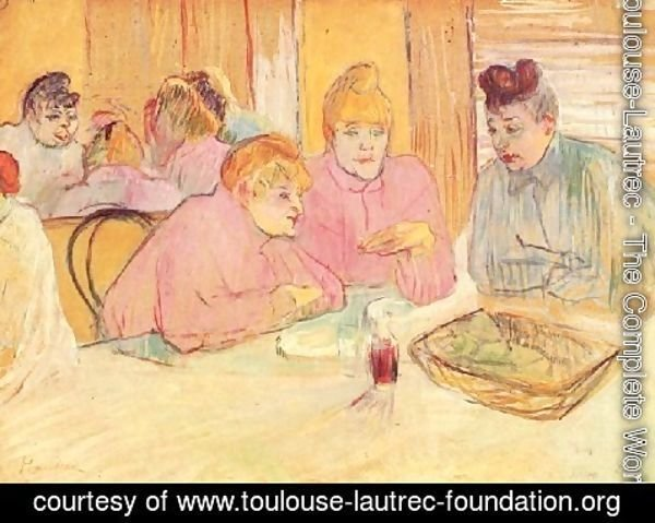 Toulouse-Lautrec - In The Dining Room Of The Brothell