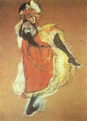 Toulouse-Lautrec - Jame Avril Dancing   Study