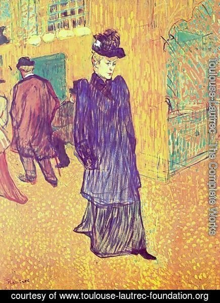 Toulouse-Lautrec - Jane Avril Infront Of The Moulin Rouge