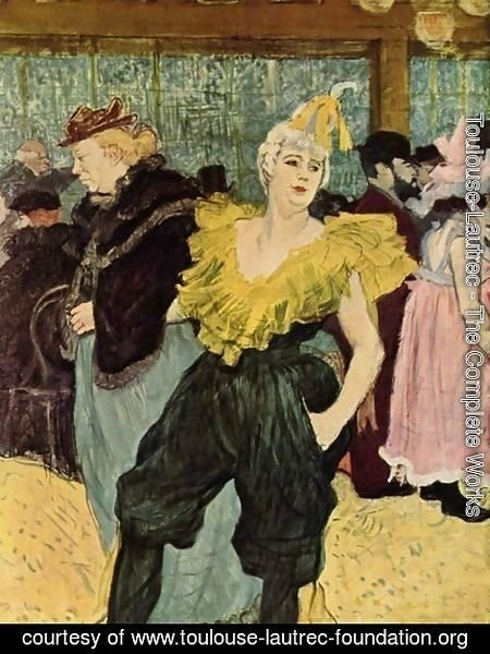 Toulouse-Lautrec - The Clownesse Cha U Ka O In Moulin Rouge