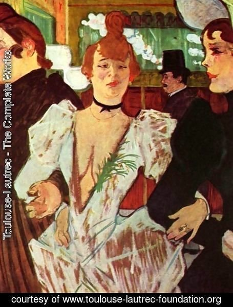 Goule Enters The Moulin Rouge With Two Women