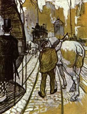 Toulouse-Lautrec - The Preliminaries Horse Of The Rails Bus Company