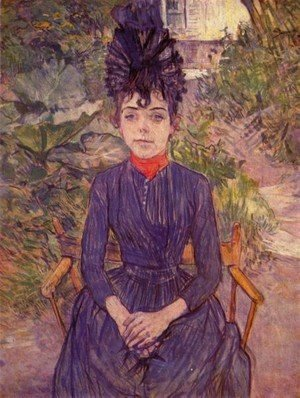 Toulouse-Lautrec - Portrait Of Justine Dieuhl In The Garden