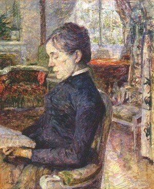 Adele De Toulouse Lautrec In The Salon At Malrome