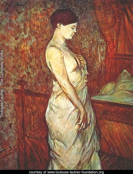 Mme Poupoule In Chemise By Her Bed