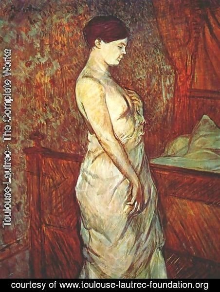 Toulouse-Lautrec - Mme Poupoule In Chemise By Her Bed