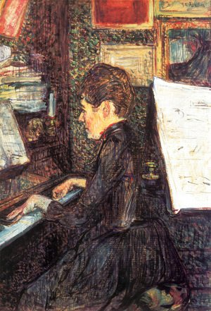Toulouse-Lautrec - Mlle Marie Dihau At The Piano