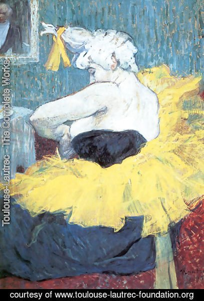 Toulouse-Lautrec - The Clownesse Cha U Kao At The Moulin Rouge Ii