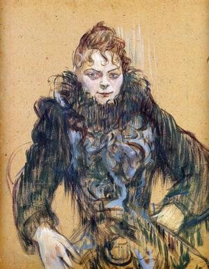 Toulouse-Lautrec - Woman With A Black Feather Boa