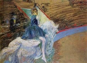Toulouse-Lautrec - At The Cirque Fernando Rider On A White Horse