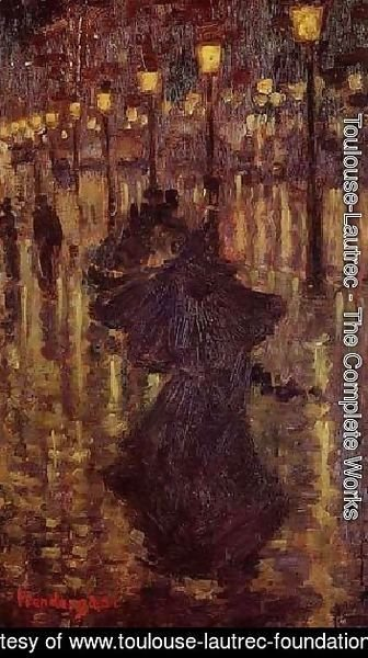 Toulouse-Lautrec - Evening Shower Paris