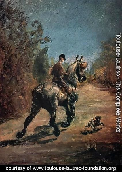 Toulouse-Lautrec - Horse And Rider With A Little Dog