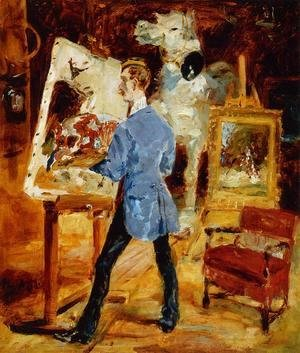 Toulouse-Lautrec - Princeteau In His Studio