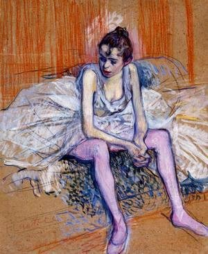 Toulouse-Lautrec - Seated Dancer In Pink Tights